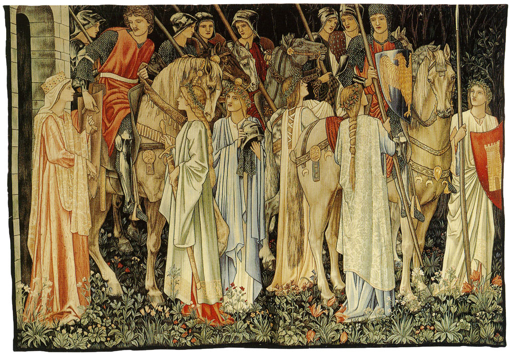 Edward Burne-Jones, William Morris and John Henry Dearle - The Arming and Departure of the Knights of the Round Table on the Quest for the Holy Grail