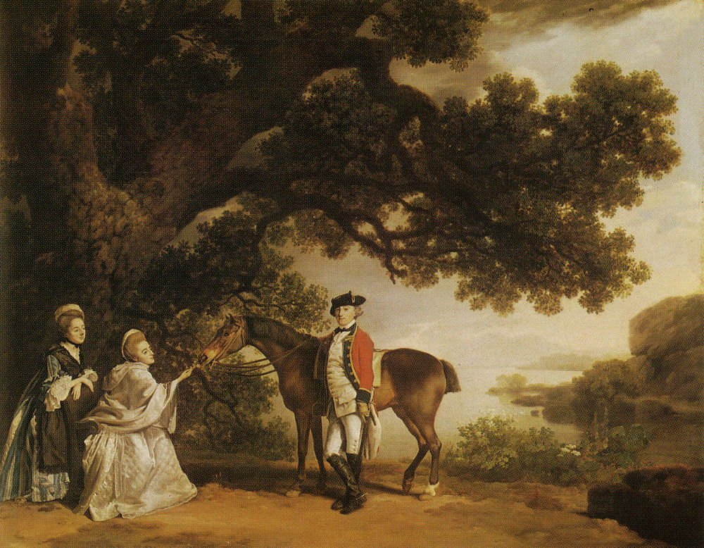 George Stubbs - Colonel Pocklington with His Sisters