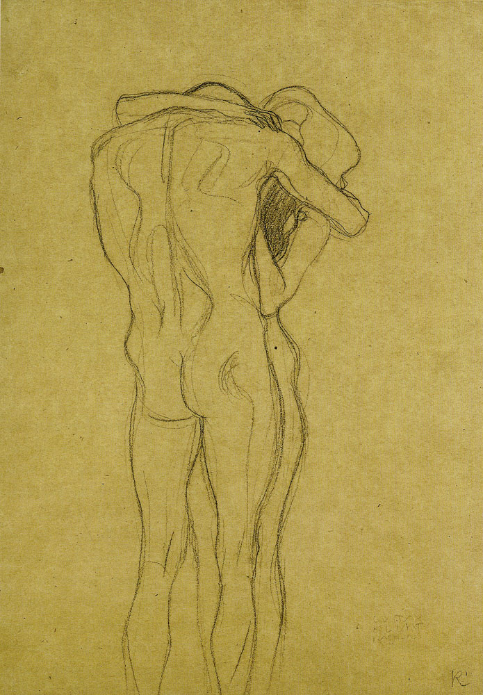 Gustav Klimt - Embracing Couple