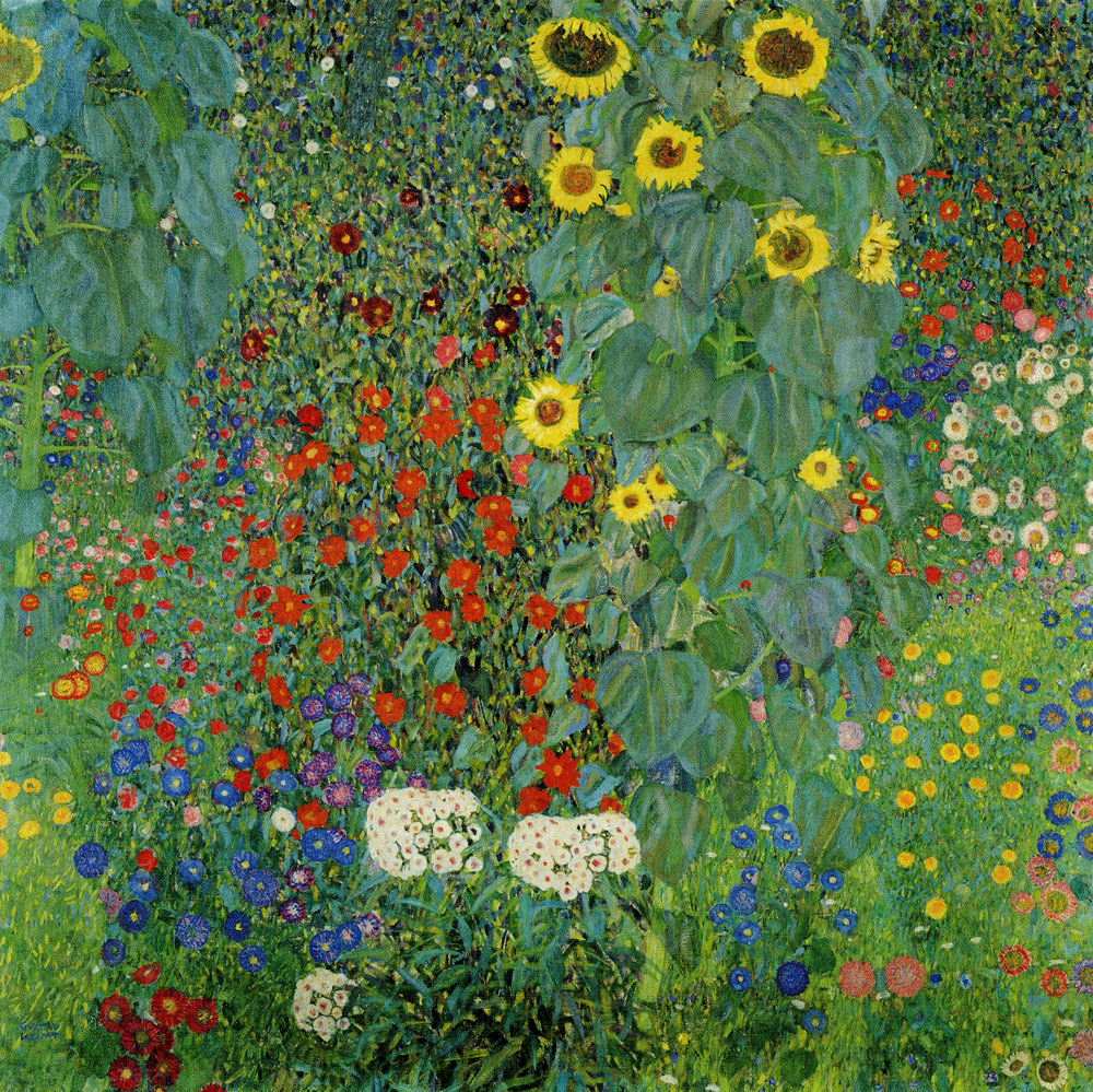 Gustav Klimt - Cottage Garden with Sunflowers