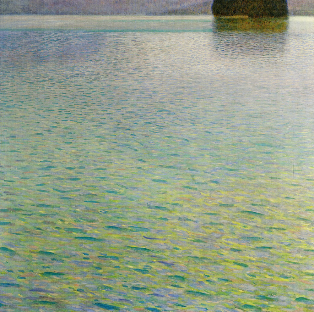 Gustav Klimt - Island in Lake Attersee