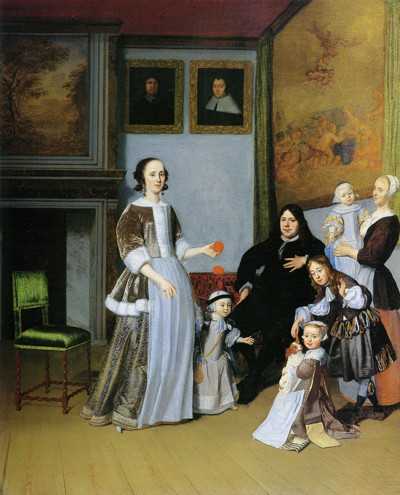Jacob Ochtervelt - Family Portrait