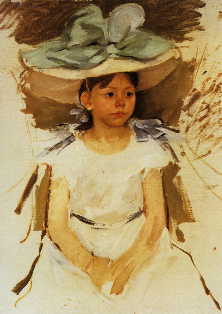 Mary Cassatt - Ellen Mary Cassatt in a Big Blue Hat