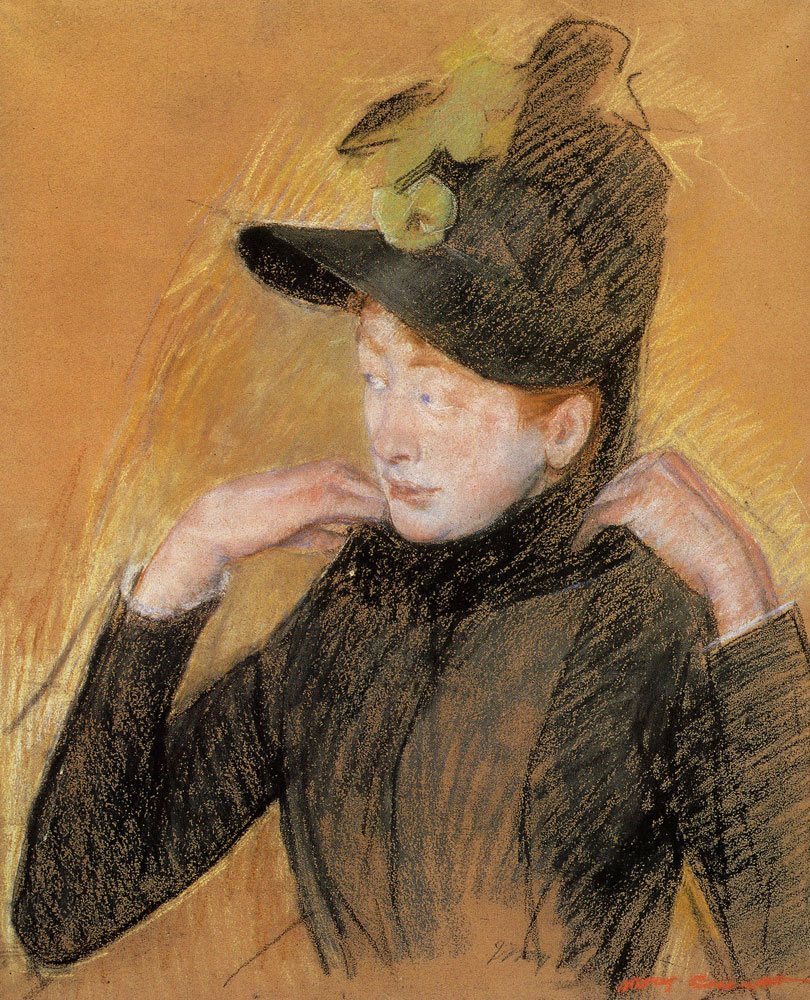 Mary Cassatt - Woman Arranging Her Veil