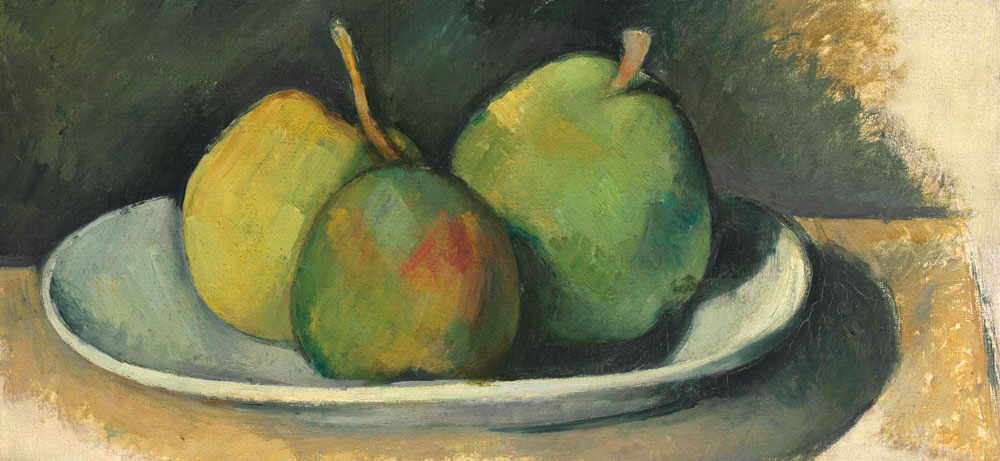Paul Cézanne - Pears on a white plate