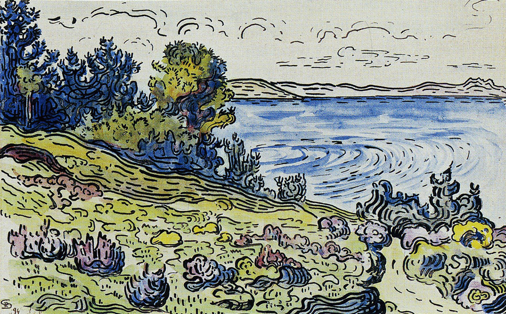Paul Signac - The Coastal Path, Saint-Tropez