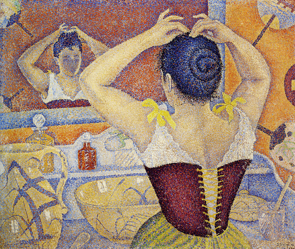 Paul Signac - Woman Arranging Her Hair, Opus 227 (Arabesques for a Dressing Room)
