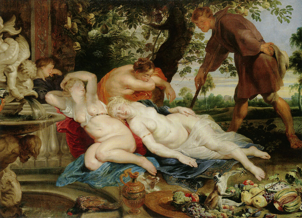 Peter Paul Rubens with the collaboration of Frans Snyders and Jan Wildens - Cymon and Iphigenia