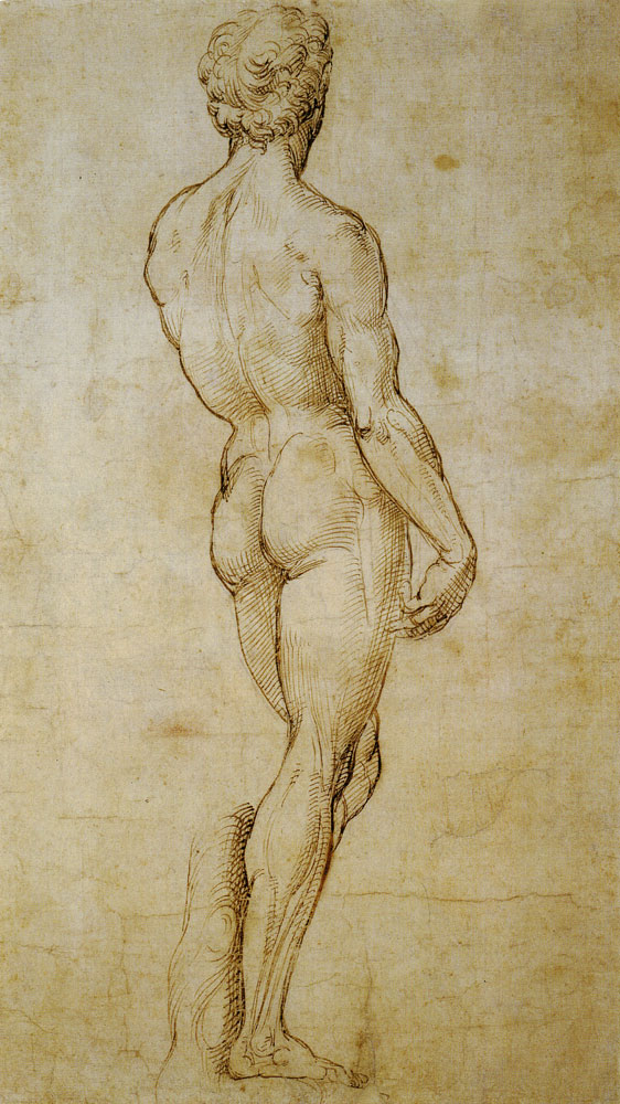Raphael - A Back View of Michelangelo's 'David'