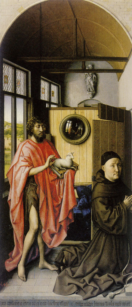 Robert Campin - Saint John the Baptist and the Franciscan Maestro Henricus Werl