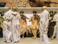 Albert Moore A Quartet: A Painter's Tribute to the Art of Music