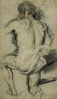 Anthony van Dyck Kneeling Man, Seen from the Back
