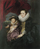 Anthony van Dyck Portrait of a Woman and Child