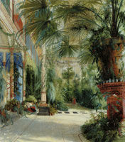 Carl Blechen The Interior of the Palm House