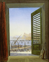 Carl Gustav Carus Balcony Room with a View of the Bay of Naples