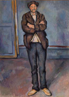 Paul Cézanne Peasant Standing with Arms Crossed