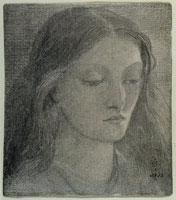 Dante Gabriel Rossetti Head of Elizabeth Siddal, looking down to the right