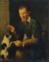 David Ryckaert III Peasant with a Dog