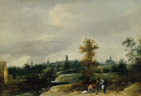 David Teniers the Younger View of the Environs of Brussels