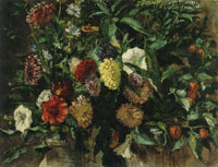 Eugène Delacroix Bouquet of Flowers in a Vase