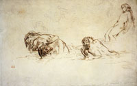 Eugène Delacroix Nude Women Bathing