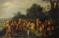 Workshop of Frans Francken the Younger John the Baptist Preaching