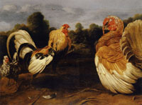 Frans Snyders - Cock and Turkey Fighting
