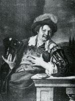 Frans van Mieris the Elder Man Holding a Roemer