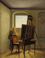 Georg Friedrich Kersting Caspar David Friedrich in his Studio