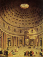 Giovanni Paolo Panini The Interior of the Pantheon