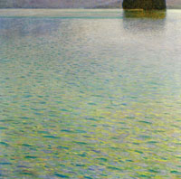 Gustav Klimt Island in Lake Attersee