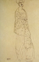 Gustav Klimt Study for the Portrait of Margaret Stonborough-Wittgenstein