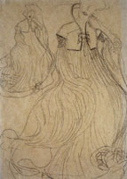 Gustav Klimt Study for the Portrait of Adele Bloch-Bauer I