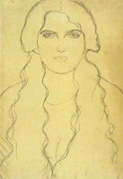 Gustav Klimt Young Woman with Unbraided Hair
