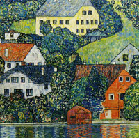 Gustav Klimt Houses in Unterach on the Attersee