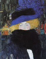 Gustav Klimt - Woman with a Hat and Feather Boa