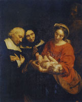 Jacob van Oost the Elder The Holy Family with Donors
