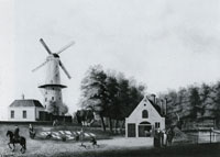 Jan ten Compe Village with a windmill