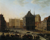 Attributed to Johannes Lingelbach - The Dam Square in Amsterdam with the New Town Hall under Construction, Seen to the West