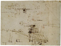 Leonardo da Vinci - Perspective Study, Sketches of Optical Phenomena and Calculations