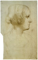 Leonardo da Vinci Portrait of a Woman in Profile