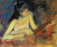Mary Cassatt - Girl with a Banjo