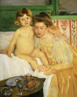 Mary Cassatt Mother and Child (Baby Getting Up from His Nap)