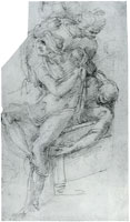 Michelangelo - The Risen Lazarus, supported by Two Figures
