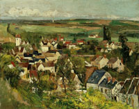 Paul Cézanne - Auvers-sur-Oise, panoramic view