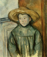 Paul Cézanne Child with a Straw Hat