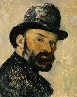 Paul Cézanne Self-Portrait with a Bowler Hat