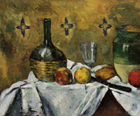 Paul Cézanne Still life: Flask, glass, and jug