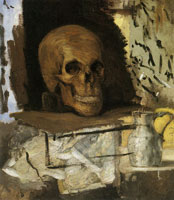 Paul Cézanne Still life: Skull and waterjug