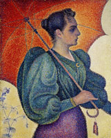 Paul Signac Woman with a Parasol, Opus 243 (Portrait of Berthe Signac)